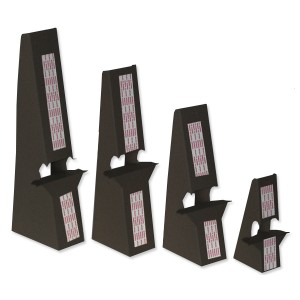 12 inch Black Self Stick, Double Winged Easel Backs