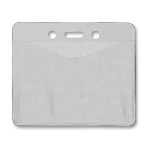 Horizontal Badge Holder with Slot & Chain Holes - Top Load - Govt. / Military Card Size