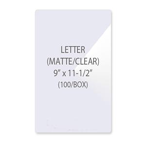 Matte Letter Size Laminating Pouches
